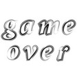 ink grunge game over sign gaming concept video vector image vector image