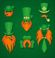 Irish people in hats signs vector image