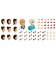 isometrics create your emotions for woman doctor vector image vector image