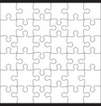 jigsaw puzzle blank vector image