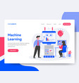 landing page template of machine learning vector image vector image