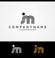 letter jm monogram symbol design minimalist vector image vector image