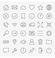 Line Web and User Interface Design Icons Big Set vector image vector image