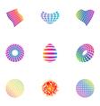 logo design elements set 27 vector image vector image