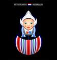 Matryoshka Netherlands vector image vector image
