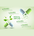 medicine information poster vector image vector image
