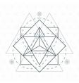 merkaba outline flower of life sacred geometry vector image vector image