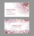 Multicolor triangle design business card template vector image vector image