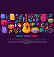 musical festival invitation template vector image