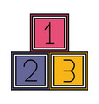 number cubes kids zone vector image