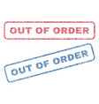 out of order textile stamps vector image vector image