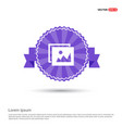 picture icon - purple ribbon banner vector image
