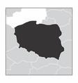 poland dark silhouette vector image vector image