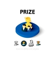 Prize icon in different style vector image vector image