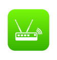 router icon green vector image vector image