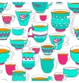 Seamless pattern of the doodle various bright vector image vector image