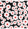 seamless pattern with abstract white flowers vector image vector image