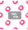 seamless pink dots seamless hand drawn circles vector image