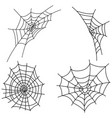 set cobwebs collection black web vector image