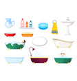 set items for bathroom various baths and vector image vector image