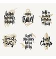 Set of summer vacation hand drawn designs vector image