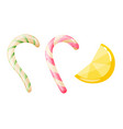 set sweets on white background - hard candy vector image vector image