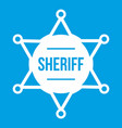 sheriff badge icon white vector image vector image