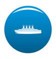 ship retro icon blue vector image
