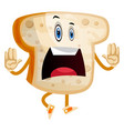 stop it bread on white background vector image