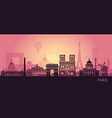 stylized landscape paris with eiffel tower arc vector image vector image