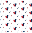 Superhero in cape with stars seamless kid pattern vector image vector image