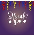Thank you card Lettering vector image vector image