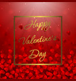 valentines day sale background with heart pattern vector image