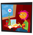 work from home life in quarantine vector image vector image