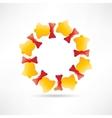 Circle of bells vector image