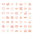 49 building icons vector image vector image