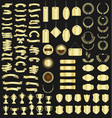 a golden collection various ribbons tags vector image vector image