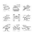 Abstract icons for military drones vector image