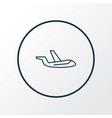 aircraft icon line symbol premium quality vector image vector image