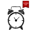 Alarm clock icon with pen effect vector image vector image