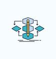 algorithm design method model process flat icon vector image