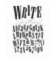 alphabet pen line style vector image vector image