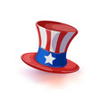 american hat independence day isolated vector image vector image