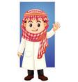 arab boy waving hand vector image vector image
