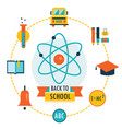 back to school background with study theme icons vector image vector image