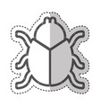 beetle silhouette isolated icon vector image