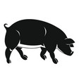 black pig in simple style vector image vector image