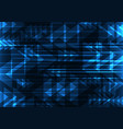 blue geometric technology abstract background vector image