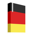 book with the flag of germany vector image