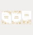 bundle of gorgeous floral wedding party invitation vector image vector image